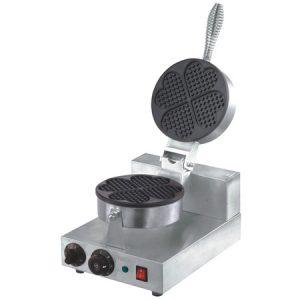 Wafflera sencilla eléctrica en forma de corazón