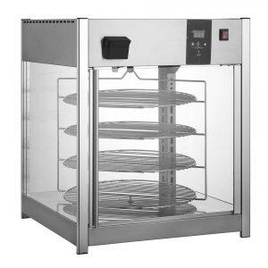 Exhibidor y calentador de pizzas con humedad RTR-158L